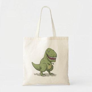 Dibujo animado del dinosaurio T Rex Bolsa Tela Barata