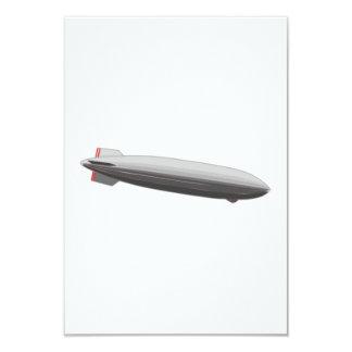 """Dibujo animado del dirigible no rígido invitación 3.5"""" x 5"""""""