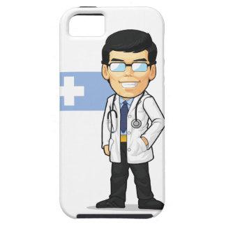 Dibujo animado del doctor iPhone 5 carcasas