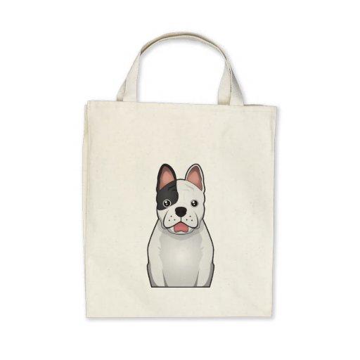 Dibujo animado del dogo francés bolsas