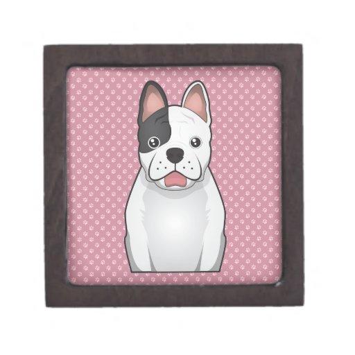 Dibujo animado del dogo francés caja de recuerdo de calidad