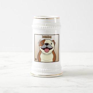 Dibujo animado del dogo jarra de cerveza