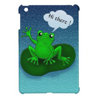 Dibujo animado del ejemplo de la rana en una hoja