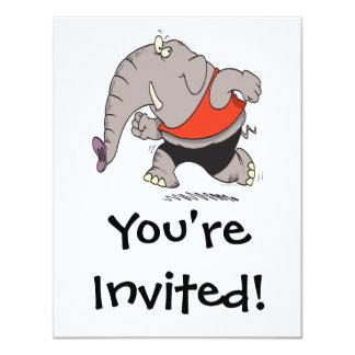 dibujo animado del elefante del basculador que invitación 10,8 x 13,9 cm