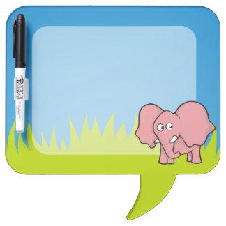 Dibujo animado del elefante rosado pizarras