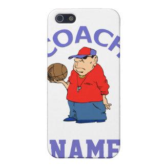 Dibujo animado del entrenador de béisbol iPhone 5 fundas