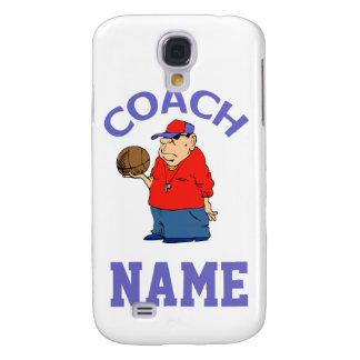 Dibujo animado del entrenador de béisbol funda para galaxy s4