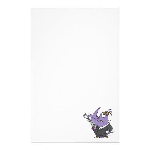 dibujo animado del espía del rinoceronte del agent  papeleria