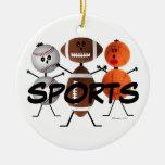 Dibujo animado del fan de deportes adornos