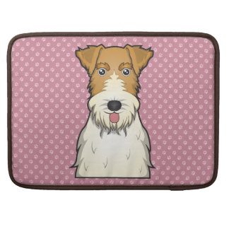 Dibujo animado del fox terrier del alambre fundas para macbooks