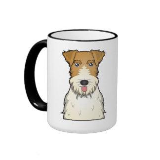 Dibujo animado del fox terrier del alambre taza de dos colores