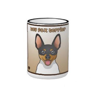 Dibujo animado del fox terrier del juguete taza de dos colores