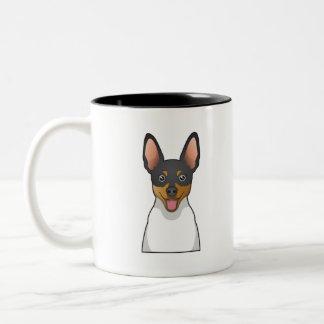 Dibujo animado del fox terrier del juguete taza de dos tonos