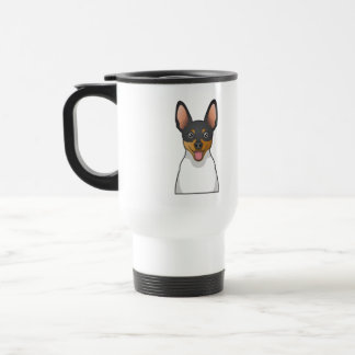 Dibujo animado del fox terrier del juguete taza térmica