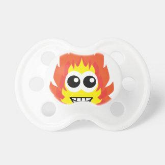 Dibujo animado del fuego chupetes para bebés