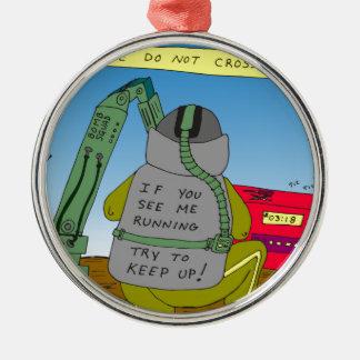 dibujo animado del funcionamiento de 632 adorno navideño redondo de metal