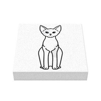 Dibujo animado del gato de Devon Rex Impresion De Lienzo