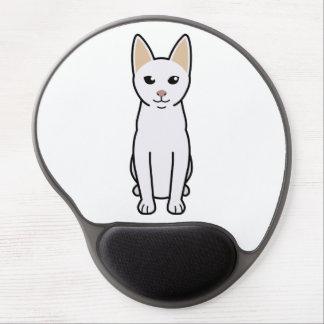 Dibujo animado del gato de Khao Manee Alfombrilla Con Gel