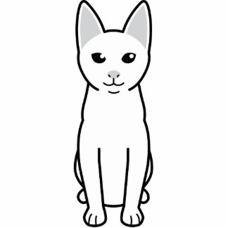 Dibujo animado del gato de Khao Manee Esculturas Fotograficas