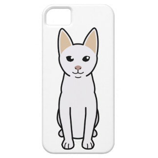Dibujo animado del gato de Khao Manee iPhone 5 Case-Mate Carcasas