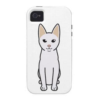 Dibujo animado del gato de Khao Manee iPhone 4/4S Funda