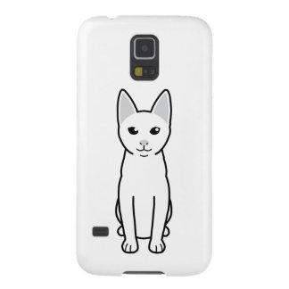 Dibujo animado del gato de Khao Manee Fundas De Galaxy S5