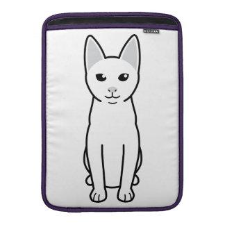 Dibujo animado del gato de Khao Manee Fundas Macbook Air