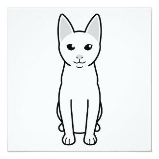 Dibujo animado del gato de Khao Manee Invitación 13,3 Cm X 13,3cm