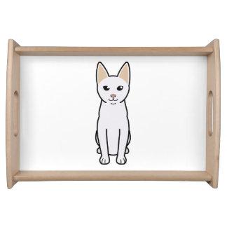 Dibujo animado del gato de Khao Manee Bandeja