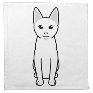 Dibujo animado del gato de Khao Manee Servilleta De Papel