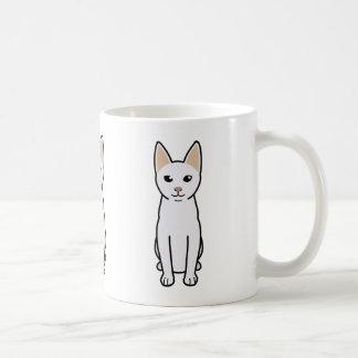 Dibujo animado del gato de Khao Manee Tazas De Café
