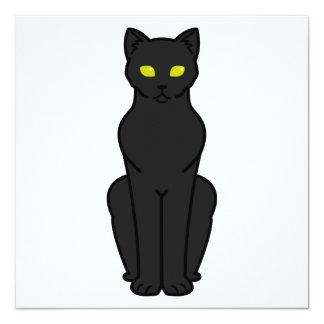 """Dibujo animado del gato de Korn Ja Invitación 5.25"""" X 5.25"""""""