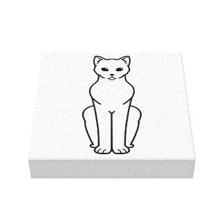 Dibujo animado del gato de Korn Ja Lienzo Envuelto Para Galerias