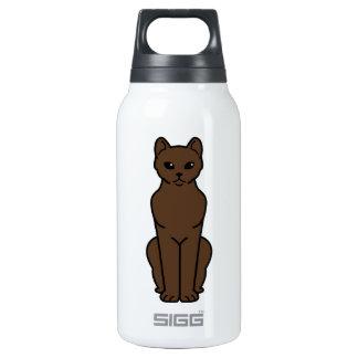 Dibujo animado del gato de La Habana Brown Botella Isotérmica De Agua