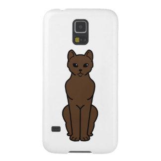 Dibujo animado del gato de La Habana Brown Carcasa De Galaxy S5