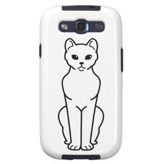 Dibujo animado del gato de La Habana Brown Samsung Galaxy SIII Funda