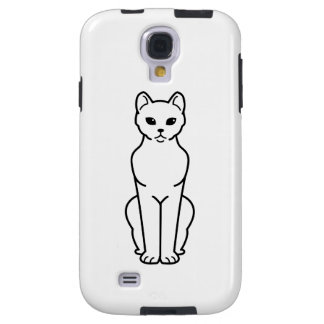 Dibujo animado del gato de La Habana Brown Funda Para Galaxy S4
