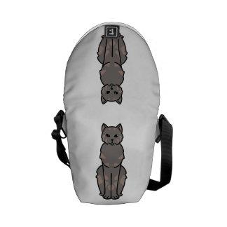 Dibujo animado del gato de la Isla de Man de Bolsas De Mensajería