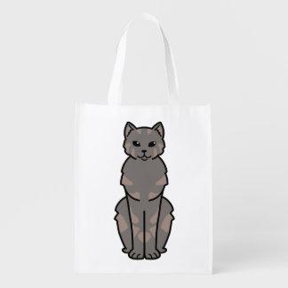 Dibujo animado del gato de la Isla de Man de Bolsas Para La Compra