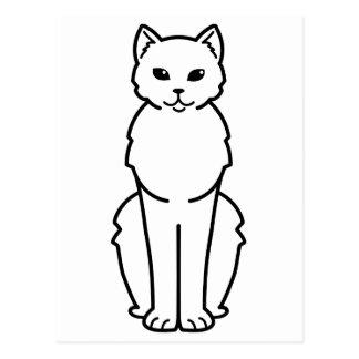 Dibujo animado del gato de la Isla de Man de Postales