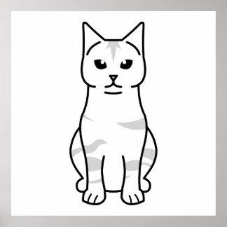 Dibujo animado del gato de la Isla de Man Posters