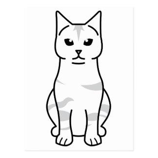 Dibujo animado del gato de la Isla de Man Postales