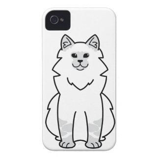 Dibujo animado del gato de la mascarada de Neva iPhone 4 Case-Mate Cárcasa