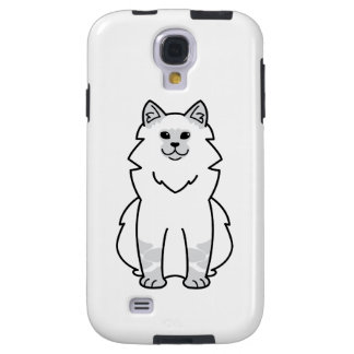 Dibujo animado del gato de la mascarada de Neva Funda Para Galaxy S4