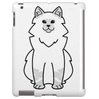 Dibujo animado del gato de la mascarada de Neva Funda Para iPad