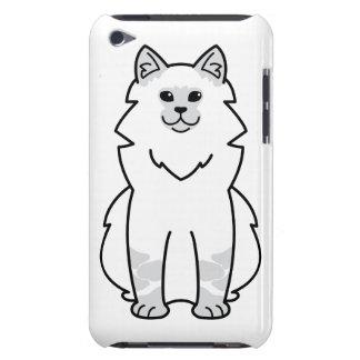 Dibujo animado del gato de la mascarada de Neva iPod Case-Mate Carcasa