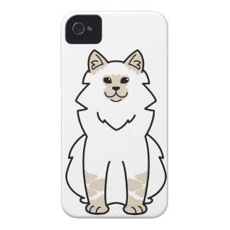 Dibujo animado del gato de la mascarada de Neva iPhone 4 Funda