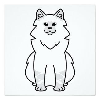 """Dibujo animado del gato de la mascarada de Neva Invitación 5.25"""" X 5.25"""""""