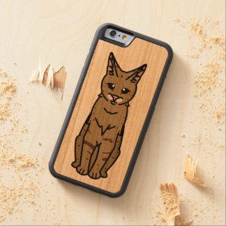 Dibujo animado del gato de la sabana funda de iPhone 6 bumper cerezo