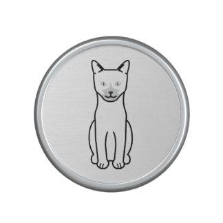 Dibujo animado del gato de Ojos Azules Altavoz